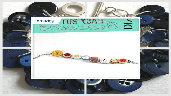 Easy DIY Button Bracelet - náhled