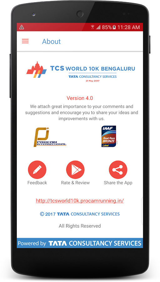 TCS World 10K Bengaluru 2017- screenshot