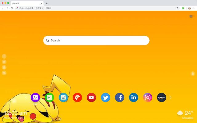 Pokémon New Tab Page HD Hot Anime Theme