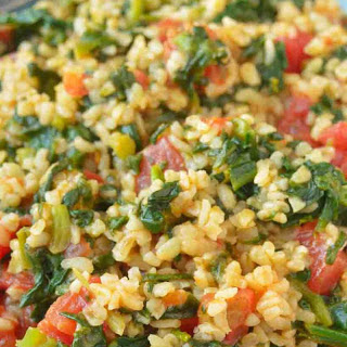 Spinach and Millet Pulav