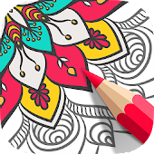 Mandala Coloring Book 🌸 Free Adult Coloring Game icon