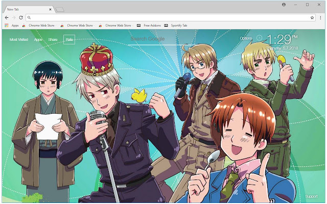 hetalia anime hd wallpapers hetalia new tab