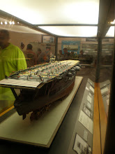 Photo: Model of the Japanese aircraft carrier, Akagi. flagship of the Japanese naval fleet in the attack against Pearl Harbor
