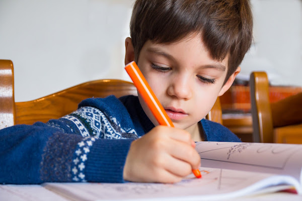 Diego e i compiti di E l i s a E n n E