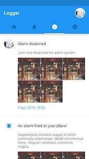 AlarmView - náhled