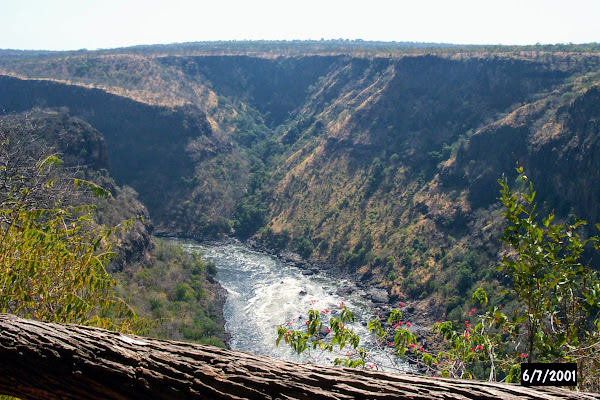 View of the Batoka Gorge from our chalet at Gorges Lodge