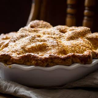 Deep Dish Double Crust Maple Apple Pie.
