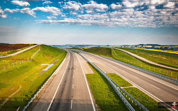 Photo: Lonely highway  #landscape #landscapephotography #highway #blue #green #yellow #sky #skyphotography #clouds