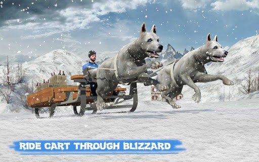Snow Dog Sledding Transport Games: Winter Sports 1.4 screenshots 7