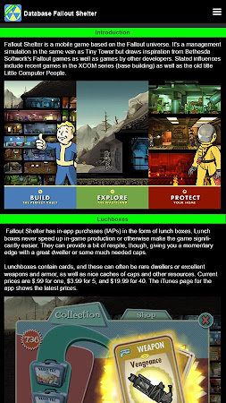 DB for Fallout Shelter 1.8 screenshot 1754383
