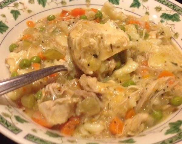 Chicken Steoup &  Rolled  Egg Dumplings Recipe
