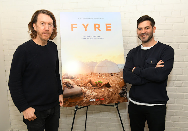 'Fyre: The Greatest Party That Never Happened' director Chris Smith and producer Mick Purzycki.