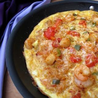 Seafood Jambalaya Frittata #SundaySupper.