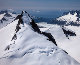 Photo: Here is an old photo from back in 2009 before I knew what I was doing with a camera. This is from a helicopter flying above the Juneau Icefield during the middle of the day. Getting up here and hiking around on the Mendenhall Glacier was one of the two most memorable experiences my wife and I had on our trip to Alaska. Plus it was our first time in a helicopter, so for those of you that know Mary, you can picture her anxiety.
