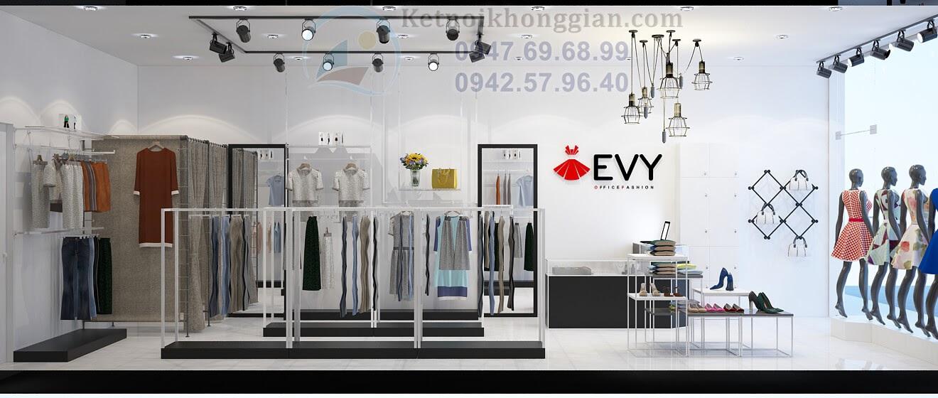 Thiết kế shop thời trang công sở 40m2