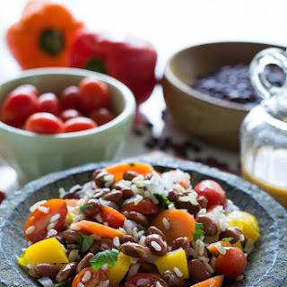 Oil-free Southwest Bean & Rice Salad