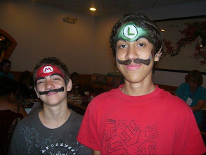 Photo: Mario bros face painting by Sofia, Banning, Ca 888-750-7024