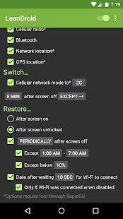 LeanDroid screenshot
