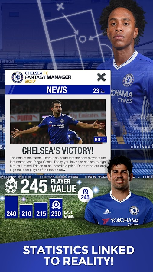 Chelsea FC Fantasy Manager'17-Official soccer game- screenshot