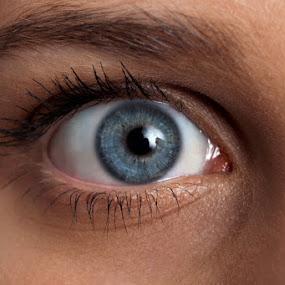 Blue eye by Miranda Legović - People Body Parts (  )
