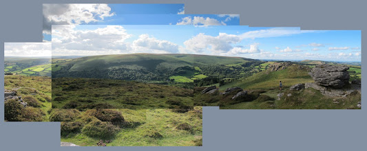 Photo: Looking across towards Hamel Down from Chinkwell Tor.
