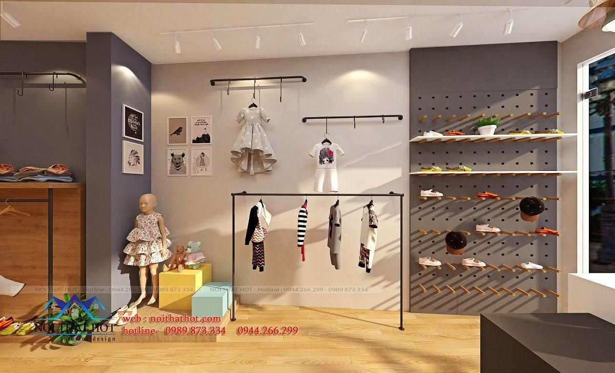 thiết kế shop thời trang trẻ em 24.baby 2