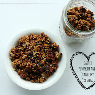 Toasted Pumpkin and Cranberry Granola