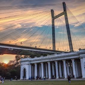 Prinsep gaht** by Anuruddha Das - Buildings & Architecture Public & Historical ( ghat, kolkata, india, nikon, d5100,  )