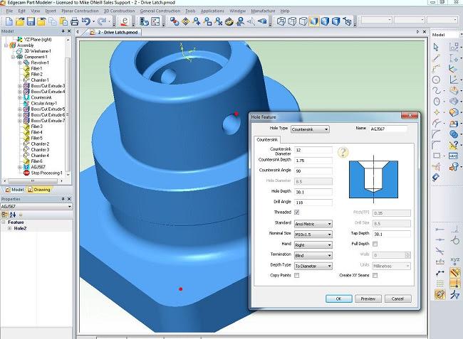 EDGECAM Part Modeler – экономически эффективный инструмент 3D-моделирования, позволяющий быстро и просто создавать или редактировать твердотельные модели в 3D перед производством.