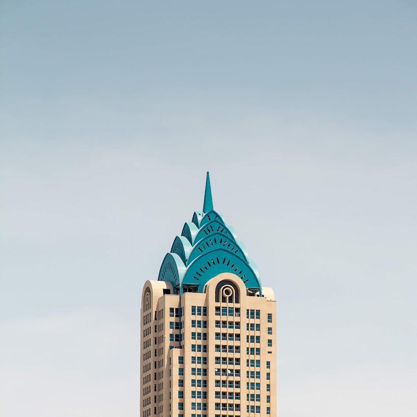 Perspectivas minimalistas de la arquitectura icónica de Dubai