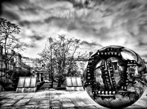 "Photo: Pomodoro's ""Sphere Within Sphere"" Trinity College Dublin  +#HDRSunday #hdrsunday"