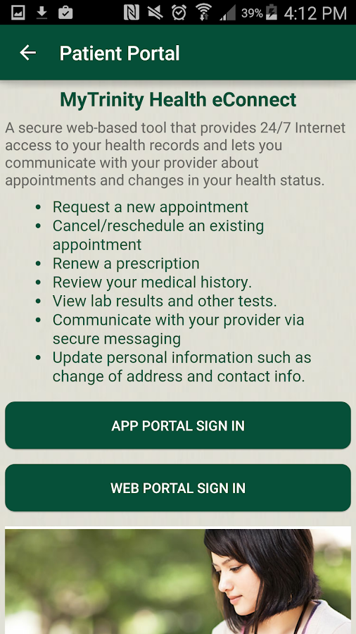 Trinity Health- screenshot