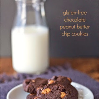 Gluten-Free Chocolate Peanut Butter Chip Cookies.