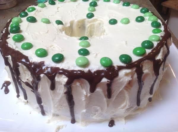 Irish Mint Cream Marble Pound Cake