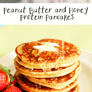 Peanut Butter and Honey Protein Pancakes