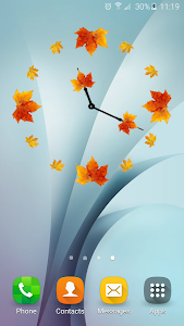 Autumn Analog Clock screenshot 2