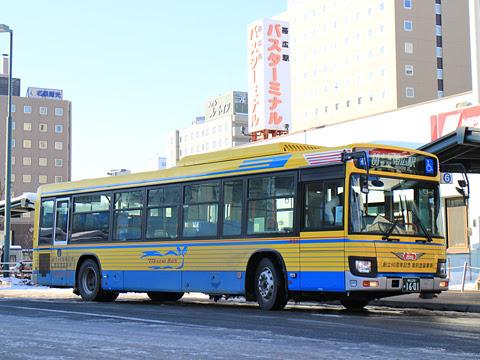 十勝バス 1601 創立90周年記念復刻塗装車 帯広駅前にて