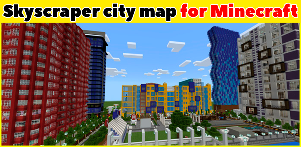 Skyscraper city map for Minecraft PE APK - Download APK