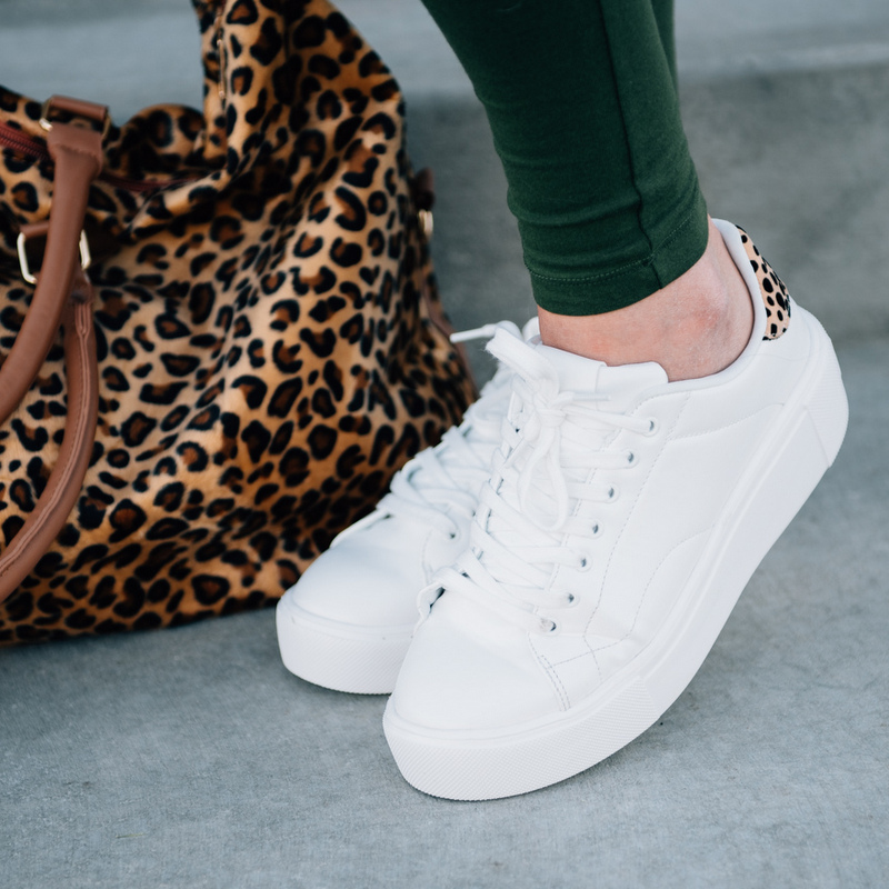 Claire Leopard Back Sneakers