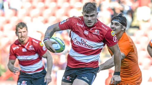 Menacing: Malcolm Marx, who was outstanding for the Lions, on his way to scoring a try. Picture: SYDNEY SESHIBEDI/GALLO IMAGES