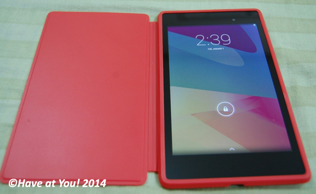 Nexus 7 with case