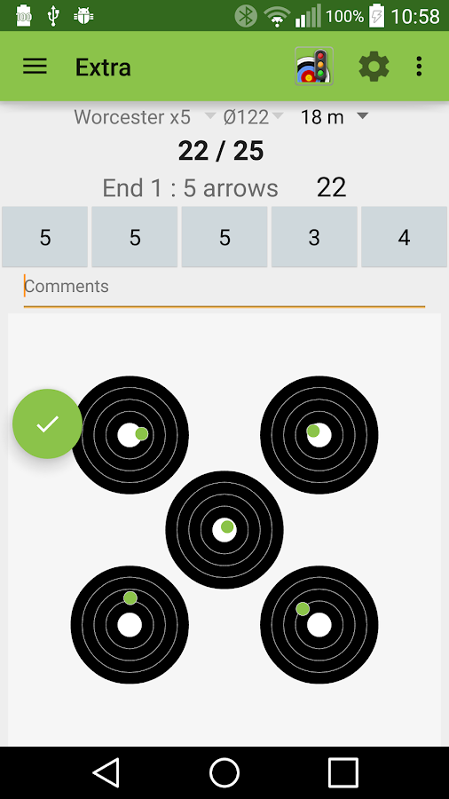 Archery Score Demo- screenshot