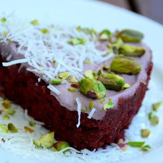 Chocolate Beet Cake With Raspberry Frosting [Vegan, Raw, Gluten-Free].