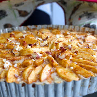 Apple Hazelnut Tart with Shortbread Crust.
