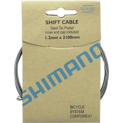 Shimano Zinc Derailleur Cable 1.2x2100mm 10-pack