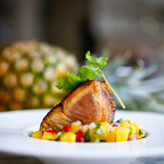 Seared Hawaiian Ono with Pineapple Ginger Salsa