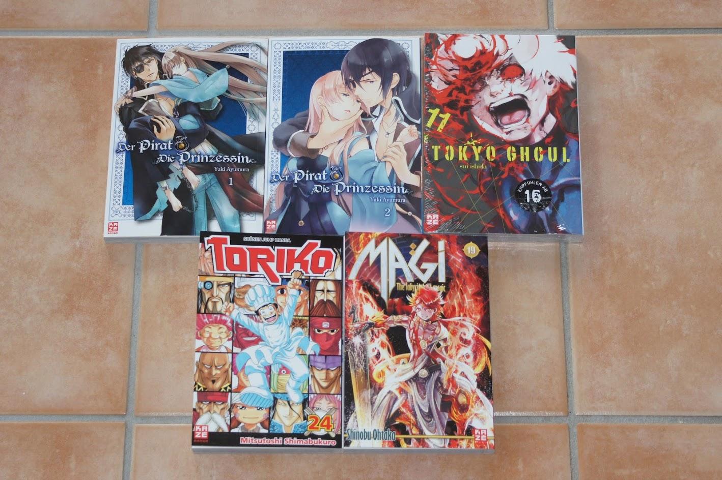 Kazé Manga Neuheiten Toriko Magi Tokyo Ghoul