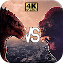 Godzilla Live Wallpaper HD Kong 2021 icon