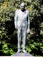 Photo: Year 2 Day 141 - Statue of Dunlop - a Medic in WW II (Thai Burma Railway Fame)