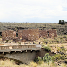 A bridge to history by Jo Gonzalez - Buildings & Architecture Decaying & Abandoned ( history, building, bridge, decaying, two gun az )